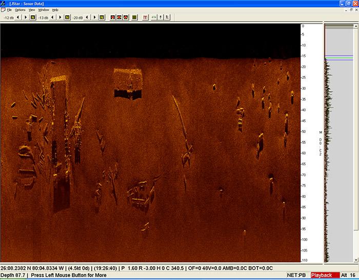 LMCS debris scan image