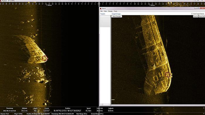 LMCS barge scan image